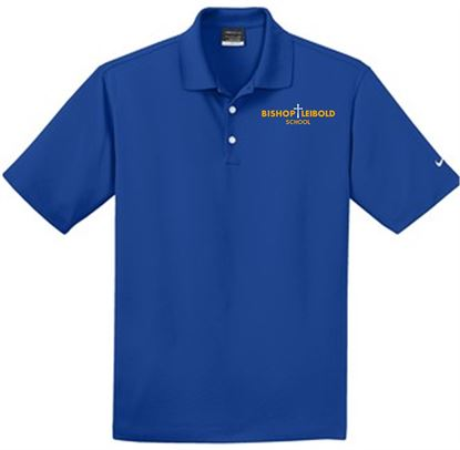Picture of Bishop Leibold Unisex Nike Dri-FIT Micro Pique Polo 363807 - Royal, Gold or White