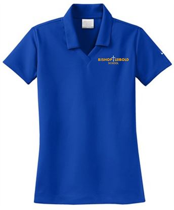Picture of Bishop Leibold Ladies Nike Dri-FIT Micro Pique Polo 354067 - Royal, Gold or White