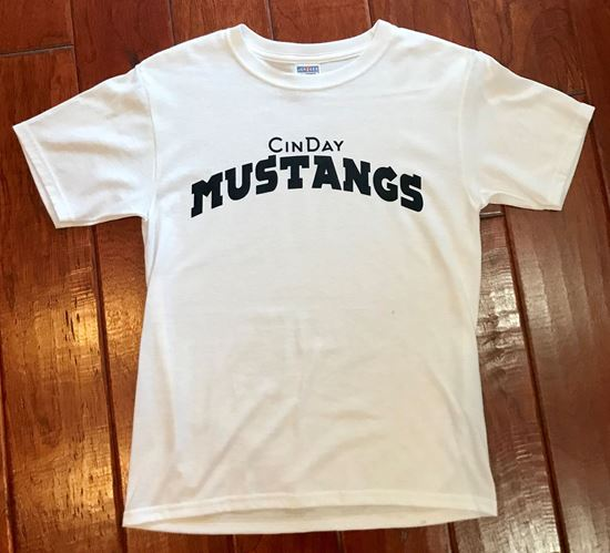 Picture of CinDay Mustangs Youth Short Sleeve T-shirt by Jerzees 29B
