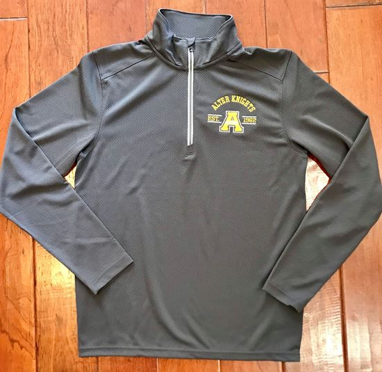 Picture of Alter Est. Logo 1/4 Zip Unisex Textured Pullover by Sport-Tek ST860 - Iron Gray