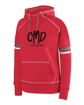 Picture of CinDay Mustangs Girls Spry Hoodie by Holloway 5441 - Red/White/Graphite