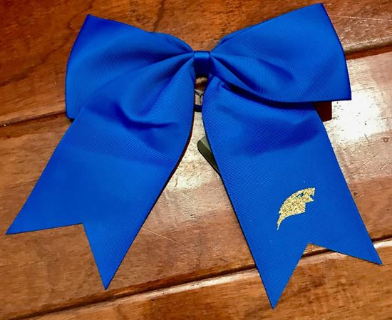 Picture of Bishop Leibold Cheer Hair Bow by Augusta 6701 - Royal or Gold