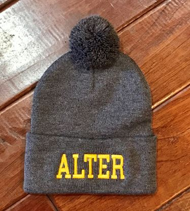 Picture of Alter Pom Knit Hat by Sportsman SP15 - Grey, Gold or Heather Brown