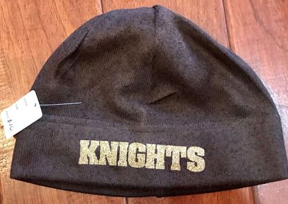 Picture of Knights Gold GLITTER Heathered Knit Beanie by Port Authority C917 -  Brown