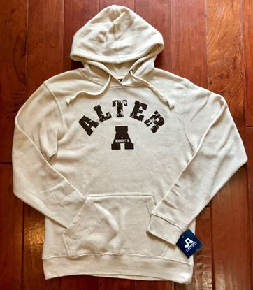"Picture of Alter ""A"" Unisex Light Weight Hoodie by J. America 8871 - Oatmeal"