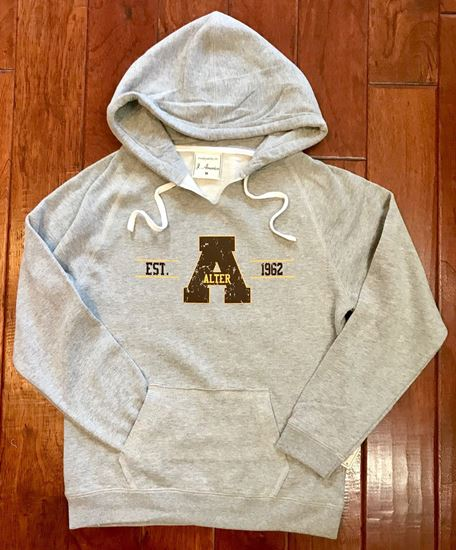 Picture of Alter EST. 1962 Ladies V-Neck Hoodie by J. America 8836 - Oxford ONLY 2 SIZES LEFT!!
