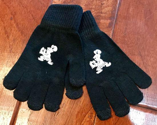 Picture of Crusader Texting Gloves by Sport-Tek STA01 - Black