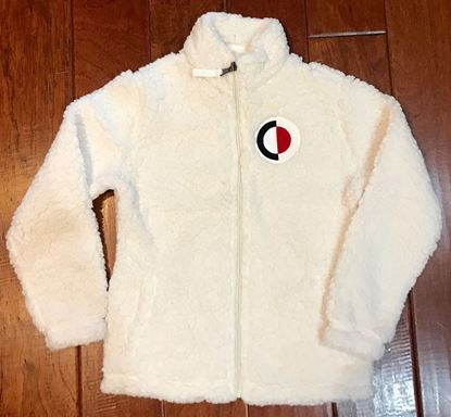 Picture of CinDay Academy Youth Full Zip Sherpa by Boxercraft YQ12 - Natural ONLY 1 YS LEFT!
