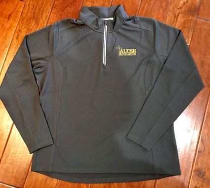 Picture of Alter Knights 1/4 Zip Ladies Textured Pullover by Sport-Tek LST860 - Iron Gray