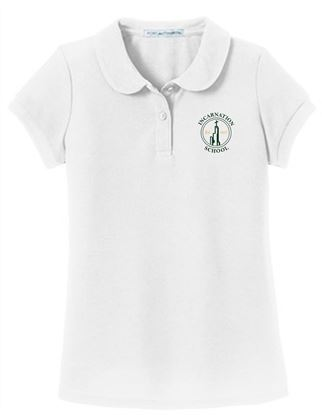 Picture of Incarnation Girls Short Sleeve Uniform Polo by Port Authority YG503