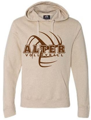 Picture of J American Tri Blend Light  Weight Hoodie 8871