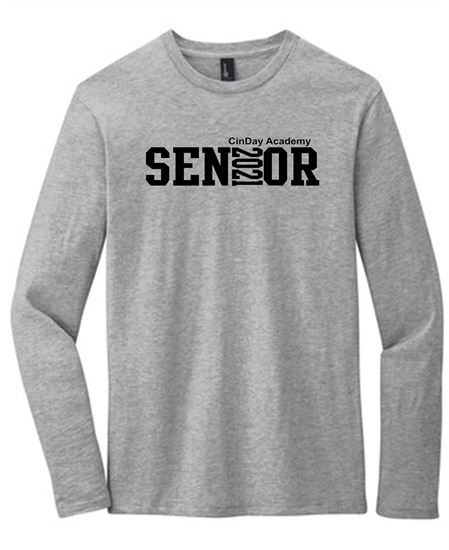 Picture of CinDay Senior Long Sleeve 2021 Tee DT6200 Full Block