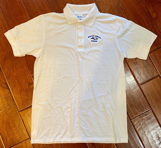 Picture of Bishop Leibold White Uniform Polo - 2 LEFT, SIZE AS