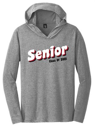 Picture of CinDay Senior Class of 2021 Perfect Tri Long Sleeve Hoodie by District DM139