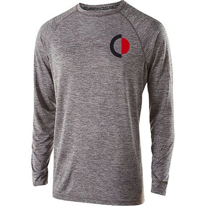 Picture of Cinday Academy Ladies Long Sleeve Electrify Tee by Holloway 222724 - Black, Grey or Red