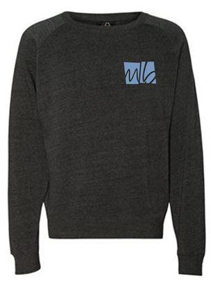 Picture of McGohan Brabender Unisex Triblend Crewneck Sweatshirt by J. America 8875 - Black, Grey