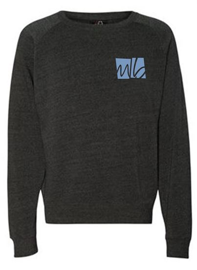 Picture of McGohan Brabender Unisex Triblend Crewneck Sweatshirt by J. America 8875 - Black, Grey
