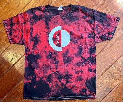 Picture of 50% OFF! CinDay Academy Unisex Tie-Dye Tee by Port & Company PC145 Black/Red