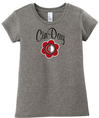Picture of Cinday Girls Very Important Tee by District DT6001YG - Grey Frost