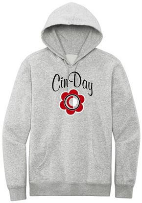 Picture of CinDay Unisex Fleece Hoodie by District DT6100 - Light Heather Grey
