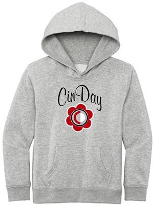 Picture of CinDay Youth Fleece Hoodie by District DT6100Y - Light Heather Grey