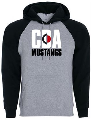 Picture of CinDay Mustangs Youth Banner Hoodie by Holloway 229279 Athletic Heather/Black