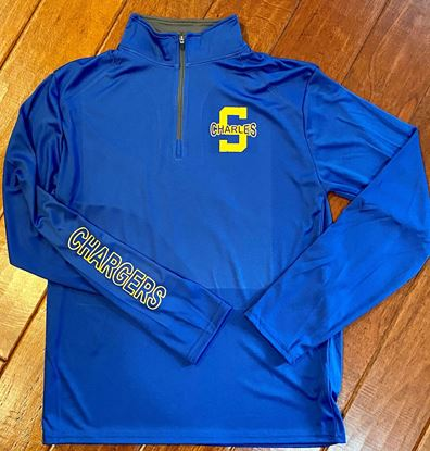 Picture of St. Charles Unisex B-Core 1/4 Zip Pullover by Badger 4102 - Royal/Graphite