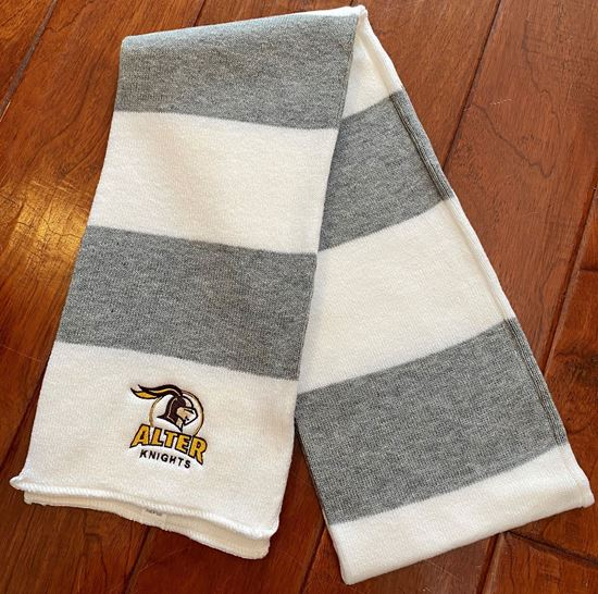 Picture of Alter Knights Knit Scarf By Sportsman SP02 - White/ Heather Grey