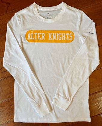 Picture of Alter Knights Distressed Unisex Long Sleeve Tee By Nike NKBQ5232 - White