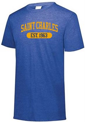 Picture of St. Charles Youth Triblend Tee by Augusta 3066 - Royal Heather