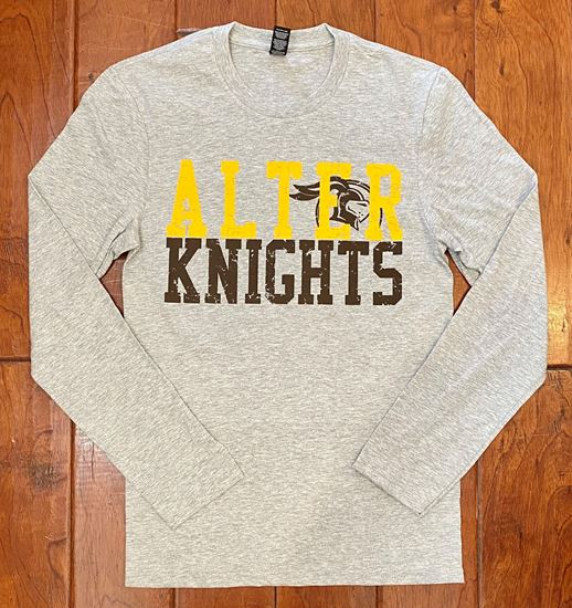 Picture of Alter Knights Long Sleeve Tee by District DT6200 - Light Heather Grey
