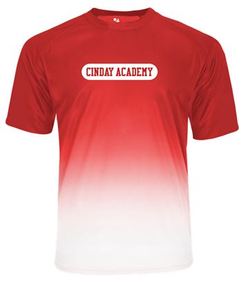 Picture of CinDay Unisex Ombre Dri-fit Tee by Badger 4209 - Red Ombre or Black Ombre