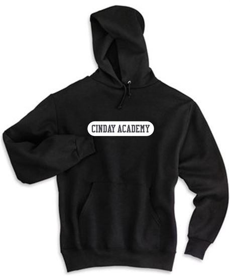 Picture of CinDay Academy Youth Cotton Solid Hoodie by Jerzees  996Y - Red, Black, Charcoal Grey or Oxford
