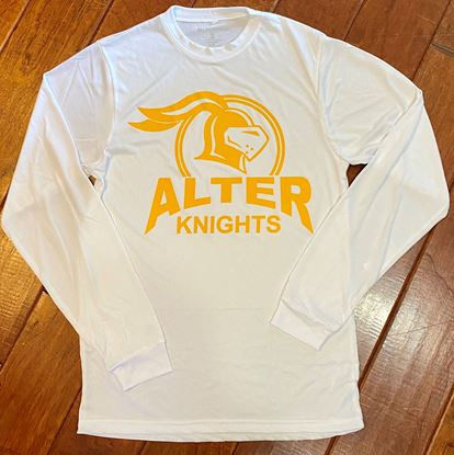 Picture of Alter Knights Unisex Gauge Long Sleeve Shirt by Holloway 222525 - White Only1 LEFT!
