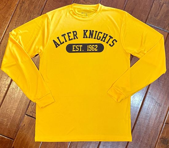 Picture of Alter Knights Est. 1962 Unisex Gauge Long Sleeve Shirt by Holloway 222525 - Gold