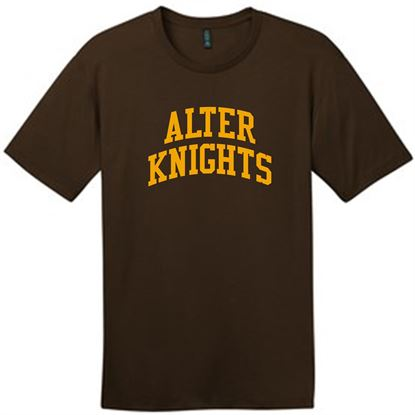 Picture of Alter Knights Est. Unisex Perfect Weight Short Sleeve Tee by District DT104 - Brown