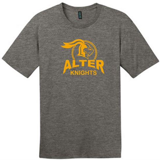 Picture of Alter Knights Unisex Perfect Weight  Short Sleeve Tee by District DT104 - Heather Charcoal