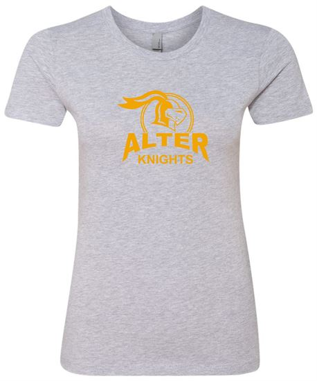 Picture of Alter Knights Ladies Cotton Short Sleeve Boyfriend Crew by Next Level 3900 - Heather Grey Only 2 Available!!