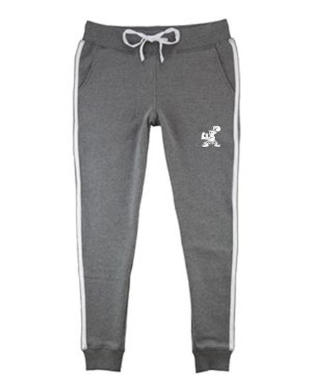 Picture of Incarnation Ladies Joggers By Boxercraft R43 Grey/White