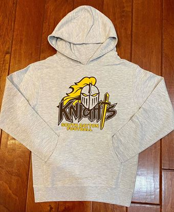 Picture of South Dayton Knights Football Youth Hoodie by Independent Trading Co. SS4001Y Gray Heather
