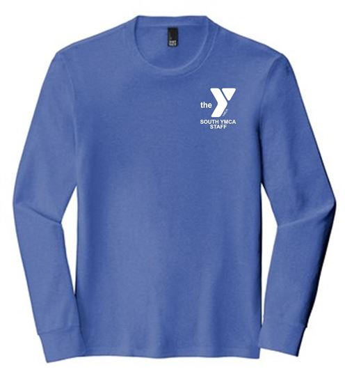 Picture of YMCA Unisex Silk Spun Cotton Long Sleeve Tee by District DM132