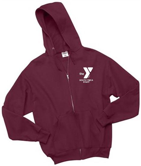 Picture of YMCA Unisex Full-Zip Hooded Sweatshirt by Jerzees 993M