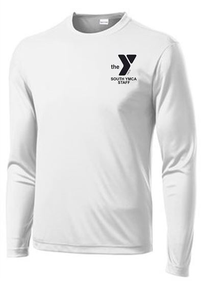 Picture of YMCA Unisex Dri Fit Long Sleeve Tee by Sport Tek ST350LS