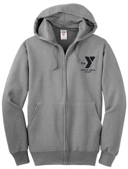 Picture of YMCA Unisex Super Heavy Weight Sweats Full-Zip Hooded Sweatshirt by Jerzees 4999M