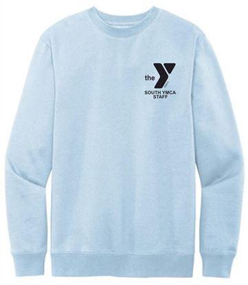 Picture of YMCA Unisex Ring Spun Cotton Fleece Crewneck Sweatshirt by District DT6104