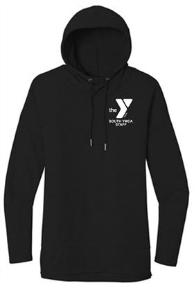 Picture of YMCA Ladies Featherweight Ring Spin Cotton French Terry Hoodie by District DT671