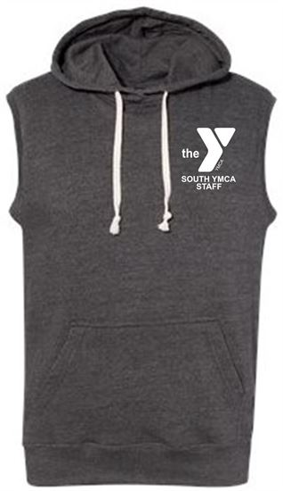 Picture of YMCA Unisex Sleeveless Tri Blend Cotton Hooded Sweatshirt by J. America 8877