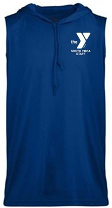 Picture of YMCA Unisex Sleeveless Dri Fit Hooded T-Shirt by Badger 4108