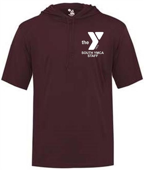Picture of YMCA Unisex Dri Fit Hooded T-Shirt by Badger 4123