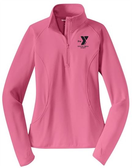 Picture of YMCA Ladies Wicking 1/4 Zip Pullover by Sport Tek LST850